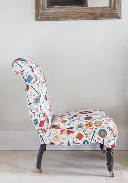 Alexandra Langdon Interiors chair upholstery design